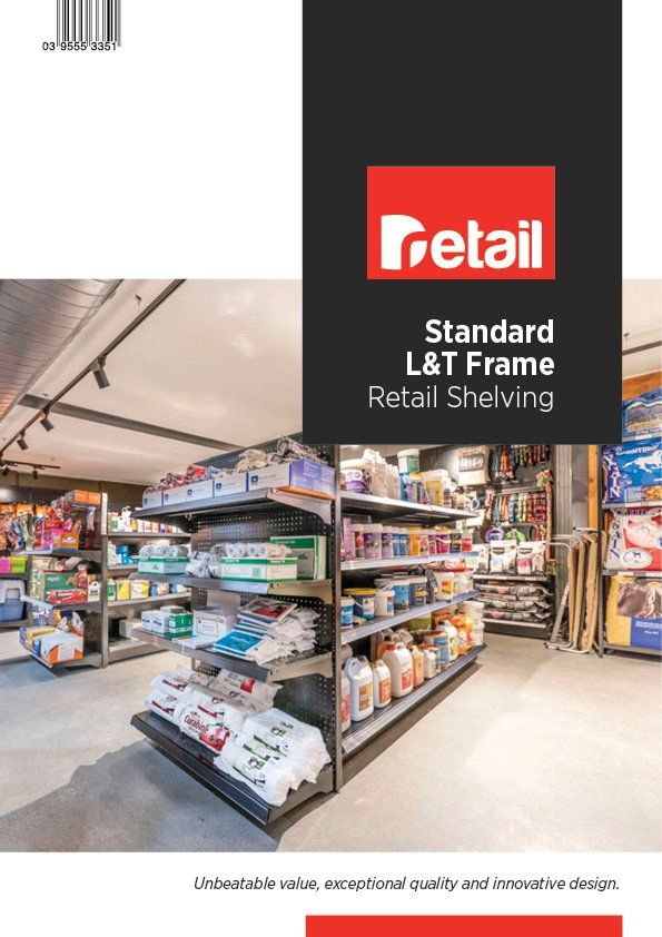 l&T frame shelving brochure cover