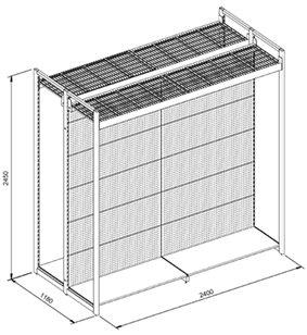 outrigger aisle shelving diagram