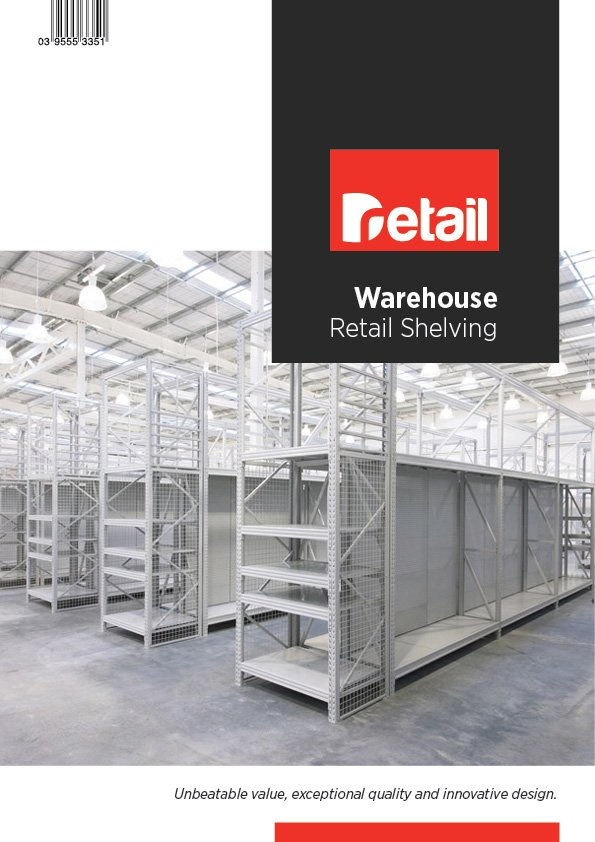 warehouse shelving brochure cover