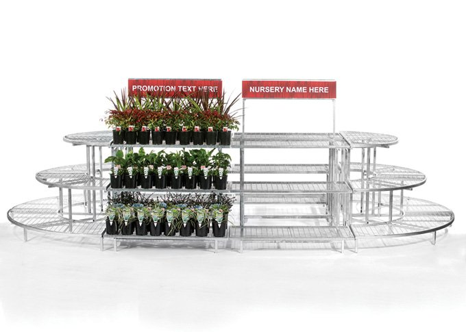 Modular garden stand in boat shape and large size