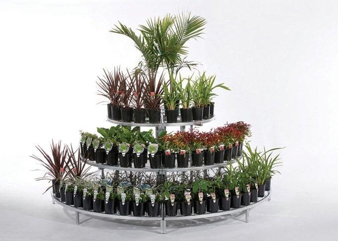 Modular half round garden stand in a large size by Detail Retail
