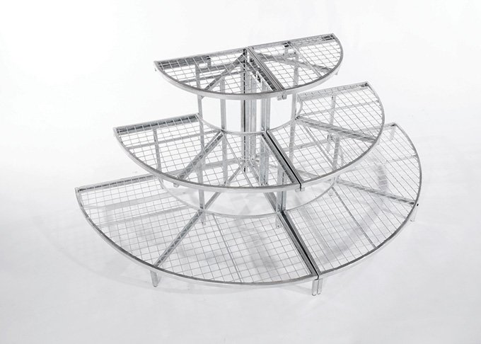 Modular half round garden stand in a large size by Detail Retail