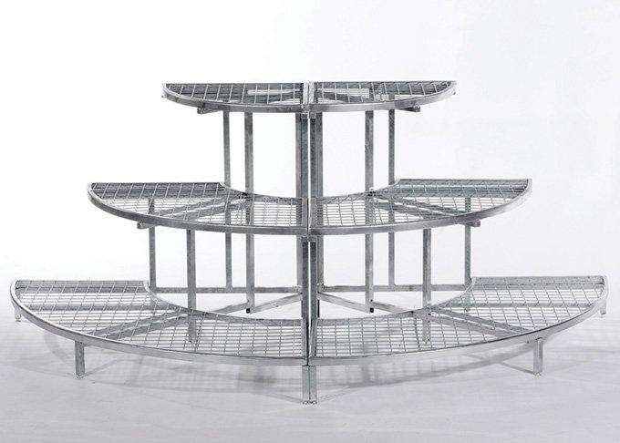 half round garden display stand