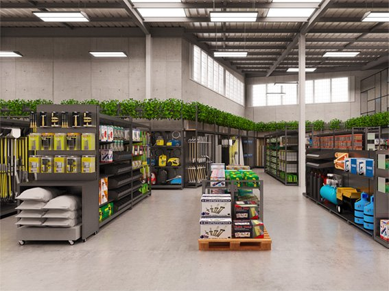 Hardware store interior design