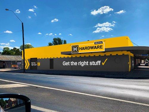h hardware store exterior design