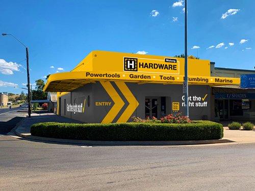 h hardware store exterior