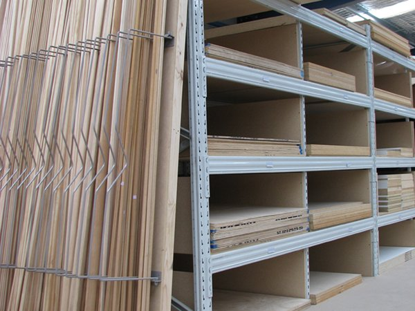 Timber sheet storage for hardware and trade