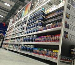 outrigger aisle shelving