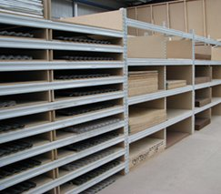 timber sheet shelving for hardware store