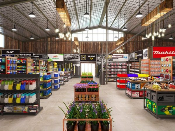 h hardware store interior design
