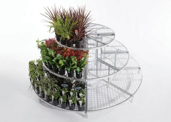Full circle modular garden display system by Detail Retail