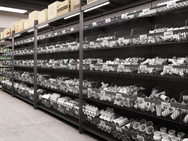 Hardware shelving by Detail Retail
