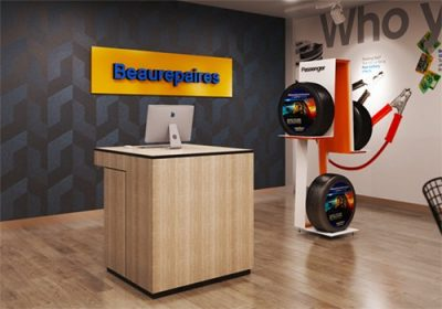 beaurepaires tire display stand
