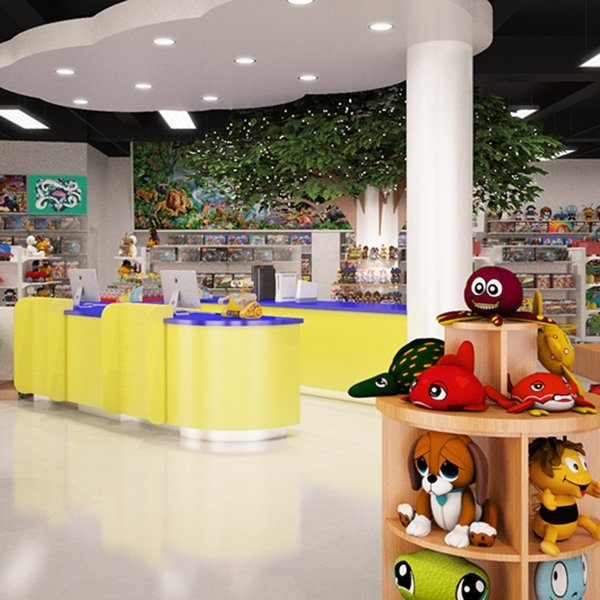 Retail design for toy store with unique counter