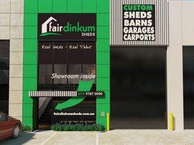Signage design for store exterior