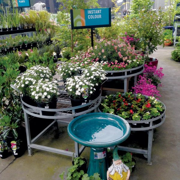 Round modular garden stands by Detail Retail in a variety of sizes