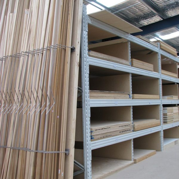Shelving system to store timber and timber sheeting products